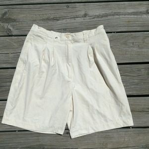 Pastel yellow shorts 